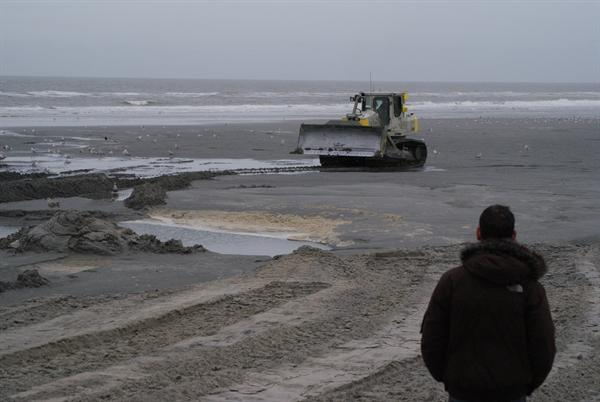 Zandsuppletie Ameland door Boskalis