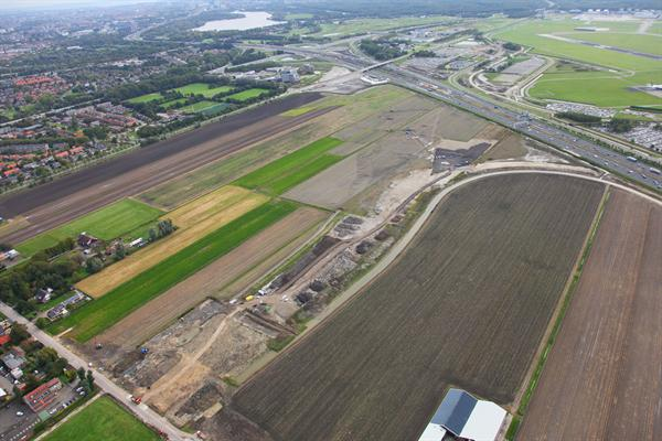 Luchtfoto: contouren nieuwe A9 (project Omlegging A9 Badhoevedorp)