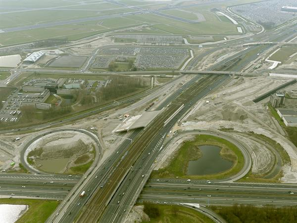Luchtfoto 2 april 2016: project Omlegging A9 Badhoevedorp