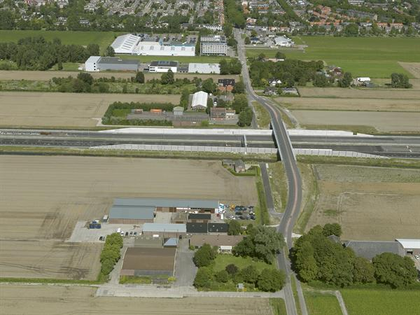 Luchtfoto 2 augustus 2016: project Omlegging A9 Badhoevedorp.