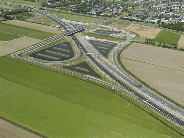 Luchtfoto 3 augustus 2016: project Omlegging A9 Badhoevedorp.