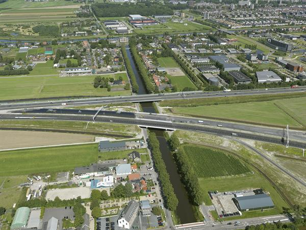 Luchtfoto 4 augustus 2016: project Omlegging A9 Badhoevedorp.