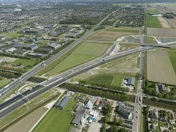 Luchtfoto 5 augustus 2016: project Omlegging A9 Badhoevedorp.