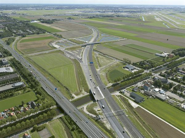 Luchtfoto 6 augustus 2016: project Omlegging A9 Badhoevedorp.