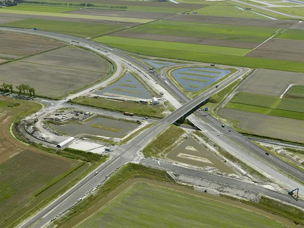 Luchtfoto 7 augustus 2016: project Omlegging A9 Badhoevedorp.