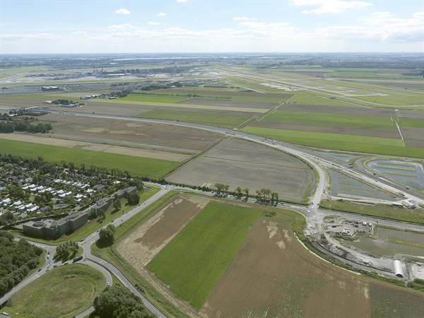 Luchtfoto 8 augustus 2016: project Omlegging A9 Badhoevedorp.