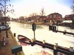 Winter op de Hollandsche IJssel in Montfoort.