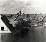 Gevolgen van de inundatie don de Duitse bezetting in April 1945. Wieringermeer.