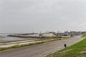 Havenmond haven Harlingen, Waddenzee.