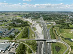 Luchtfoto 1 augustus 2016: project Omlegging A9 Badhoevedorp.