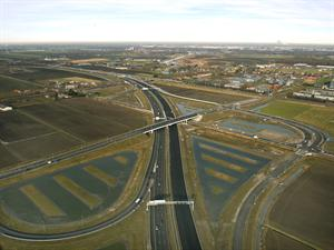 Luchtfoto project Omlegging A9 Badhoevedorp.