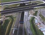 Luchtfotoserie Schiphol: verbreding A4 tunnel.